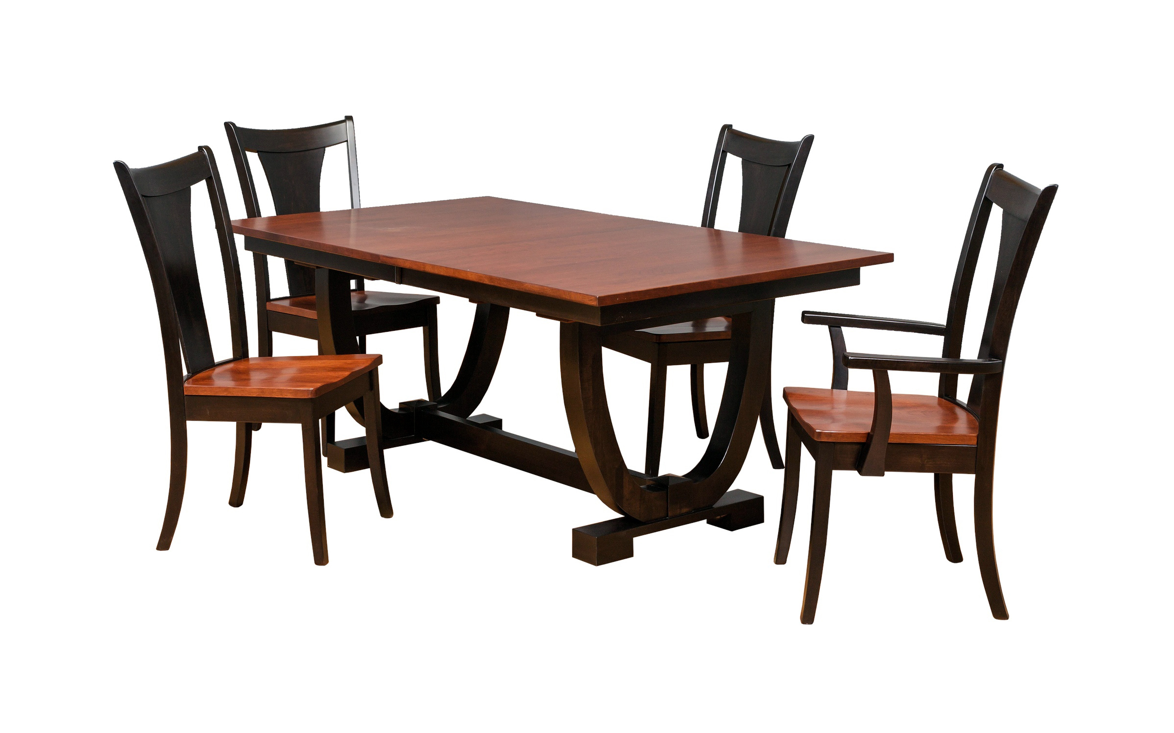 Dining Room Sets Nashua Nh Cosmopolitan Aged Cherry Dining Room Double Pedestal Table Lance